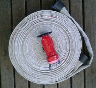 Fire hose kit. 38mm X 30m with quality fog nozzle and wajax fittings.