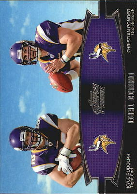 2011 Topps Prime Dual #RP Kyle Rudolph/Christian Ponder - NM-MT