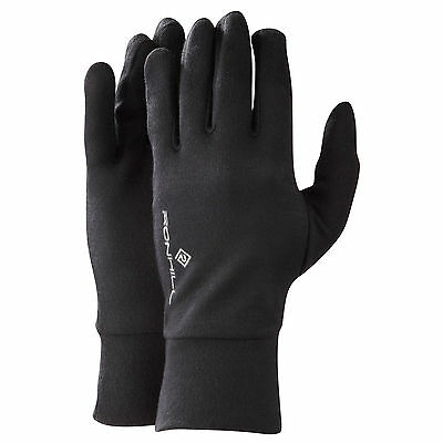 100039 SPORTS DEAL Ron Hill Classic Lightweight Thermal Running Gloves - Black