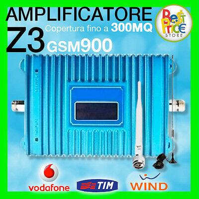 KIT AMPLIFICATORE Z3 GSM 900Mhz RIPETITORE SEGNAL LCD ANTENNA CELLULARE ANTIFURT