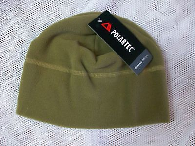 New G.i. Military Polartec Fleece Cap Beanie Color Coyote Brown