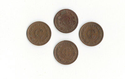 *WORLD FOREIGN COINS*MEXICO*1 CENTAVO 1933-1948*LOT OF 4 COINS* SET N10 *