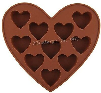 Heart Shape Muffin Sweet Candy Jelly fondant Cake chocolate Mold Silicone Tool