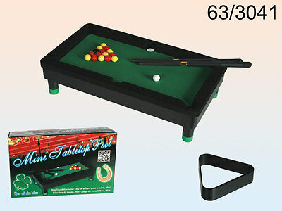 Plastic Mini Tabletop Pool With 2 Cues,16 Balls And Triangle - 63/3041
