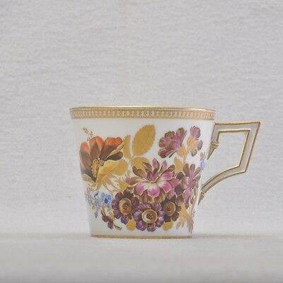 Meissen Marcolini Cup rare flower painting, rich gilded