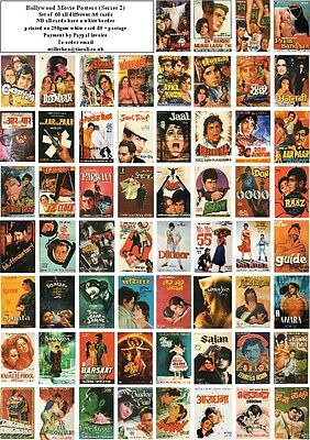 Bollywood  Movie Posters Series 2 -60 All Different A6 Artcards