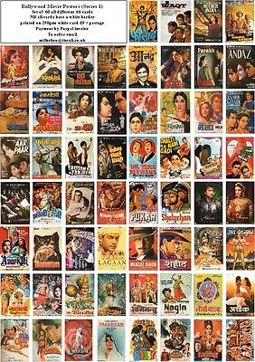 Bollywood  Movie Posters Series 1 -60 All Different A6 Artcards