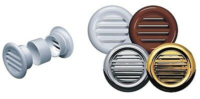 Mini Circle Air Vent Grille Door Round Ventilation Cover White Brown Gold Chrome