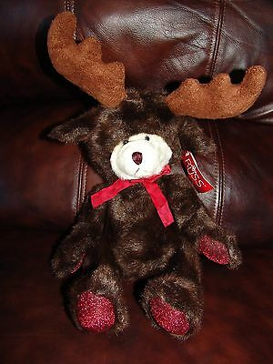 Russ Berrie & Company Broose the Teddy Bear Dressed as a Moose Plush Beanie Doll