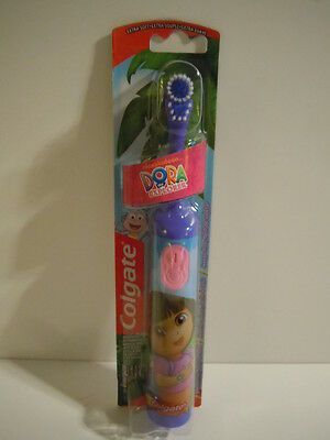 BIG SALE ! NEW STYLE PURPLE Colgate Dora The Explorer Battery Powered Toothbrush