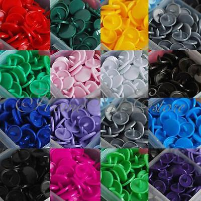 Lot de 150 bouton de pression T5 plastique multicolore 15 couleurs