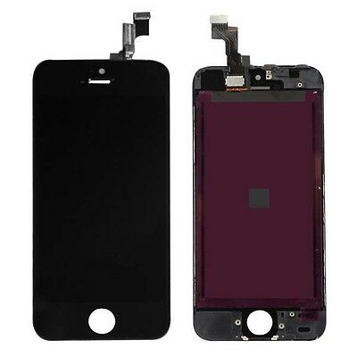 Black LCD Display and Touch Screen Digitizer Assembly Replacement for iPhone 5S