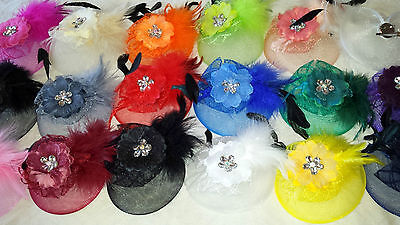 Joblot 20 pcs Feather & Sinamay Hair Fascinator on Hairclip  NEW wholesale Lot 2