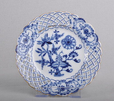 Meissen Decorated Plate With Gold Rim / Plate, 1. Choice, 15cm