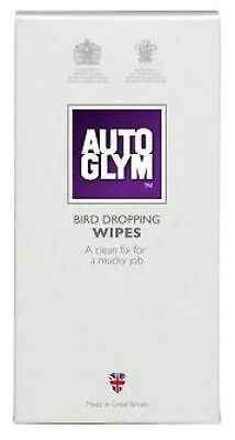 Autoglym Bird Dropping Wipes 10 Pieces Bug Tar Remover Cleaner Car Care Cleaning