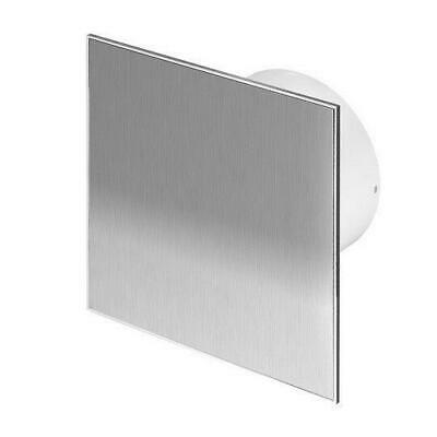 "Bathroom Stainless Steel Extractor Fan 100mm / 4"" with Timer Ventilator WTI100T"