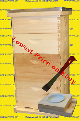 10-Frame Bee Hive w/ Free Entrance Feeder - Free Shipping!