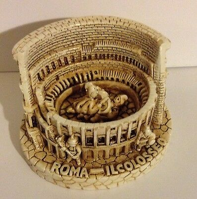 NEW!  Roman Coliseum Made From Stone Mini Replica Hand Carved in Rome, Italy