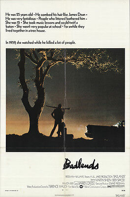 Badlands 1974 Original Movie Poster Crime Drama