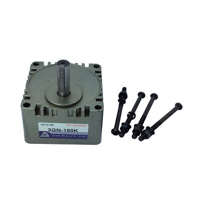 """Square GearBox Head 3GN-10K Speed Reducer Ratio 10 to 1 with 10mm/0.39"""" Shaft"""