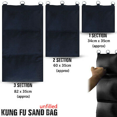Kung Fu Wall Strike Bag Hanging Canvas Punch Bags Section 1 - 2 - 3 Unfilled
