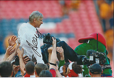 Arsene WENGER Signed Autograph 12x8 Photo AFTAL COA Arsenal Manager Gunners