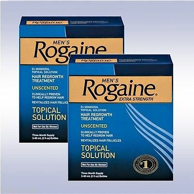 ROGAINE Mens Extra Strength 5% Minoxidil Topical Solution 6 Month Supply Exp2019