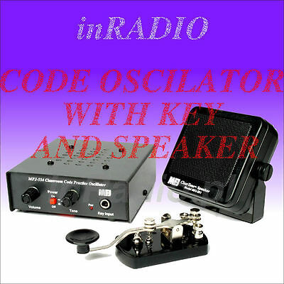 MFJ-554X Morse Code Deluxe PRACTICE OSCILLATOR WITH KEY + FAST DELIVERY MFJ554