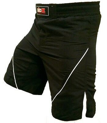 MADX Kick boxing UFC MMA Grappling Fight Short Cage Boxing, Black Shorts