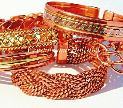 Magnetic and Non Magnetic Pure Copper Bracelets Bangle Pain Relief Arthritis