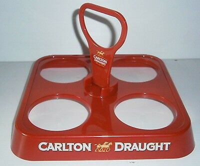 CARLTON DRAUGHT BEER NEW DRINK CARRY TRAY FOR HOME BAR COLLECTOR OR MAN CAVE