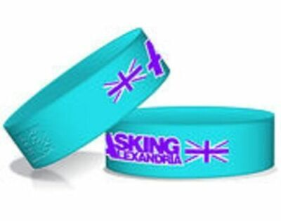 # ASKING ALEXANDRIA  the ramones OFFICIAL RUBBER WRISTBAND