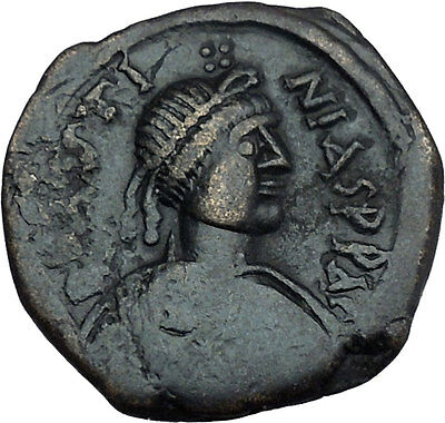Justin I 518AD Big Authentic  Ancient Medieval Byzantine Coin Large M  i44497