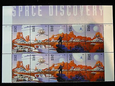 Scott #3238 - 42 Space Discovery   Plate Block of 10 MNH  - with header