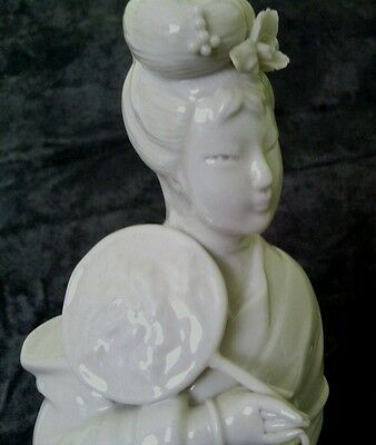 "Fine antique Chinese blanc de chine figurine of Quan Yin 10""/25.5 cm"