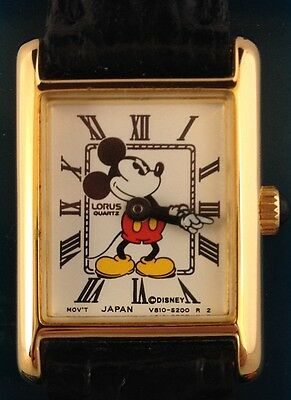 NEW LADIES MICKEY MOUSE SQUARE DIAL MOVING ARMS HANDS WATCH by LORUS
