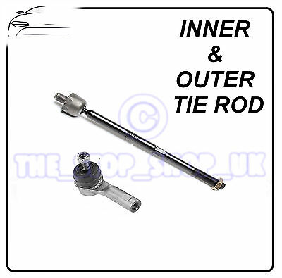 Corsa B 97 Tigra Vauxhall Combo Inner /& Outer Tie Rod End Steering Track Rod
