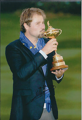 Victor DUBUISSON SIGNED Autograph Photo AFTAL COA Ryder Cup Winner Trophy Europe