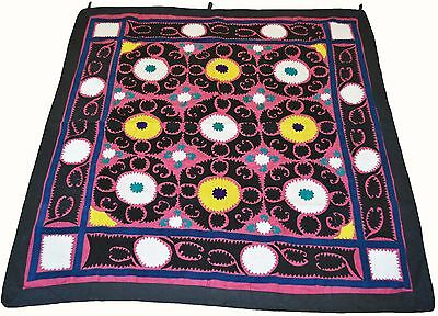 Uzbek Silk Embroidered Suzani Hand Embroidery Gift Vintage Style Wall Hanging 43