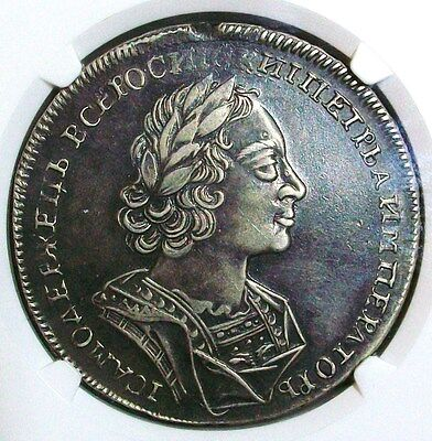 1723 RUSSIA PETER I (THE GREAT) ROUBLE NGC XF-45 L@@K