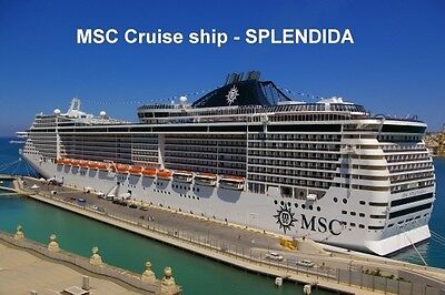SOUVENIR FRIDGE MAGNET of CRUISE SHIP SPLENDIDA - MSC CRUISES