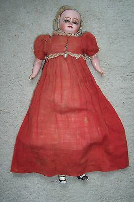 Late 1800's Antique German Paper Mache Doll/Composition with Original Clothing