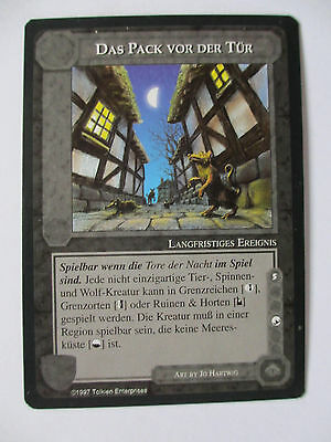 MIDDLE EARTH - DAS PACK VOR DER TÜR - Unique German Promo card - lotr ccg Hobbit