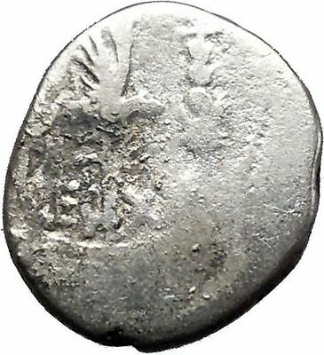 MARK ANTONY lover of CLEOPATRA  Actium Battle Ancient Silver Roman Coin i44539