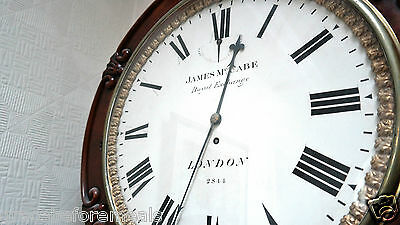 VICTORIAN EIGHT DAY WALL CLOCK JAMES MCCABE, LONDON NO JAMES MCCABE