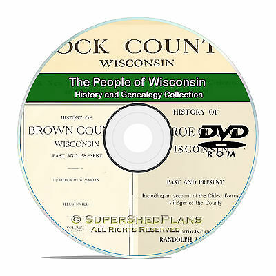 Wisconsin WI, Civil War, Family Tree History and Genealogy 292 Books DVD CD B20