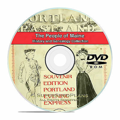 Maine ME, People, Civil War, Family Tree History Genealogy 352 Books DVD CD B04