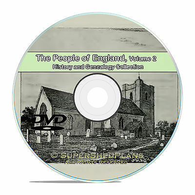 England Vol 2, People Family Tree History and Genealogy 218 Books DVD CD B32