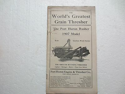 "Port Huron Engine & Thresher Co. Trade Catalog "" Rusher 1907 Model"" Farming"