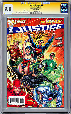 Justice League #1 Cgc Ss 9.8 *signed By Geoff Johns* San Diego Comic Con 2012